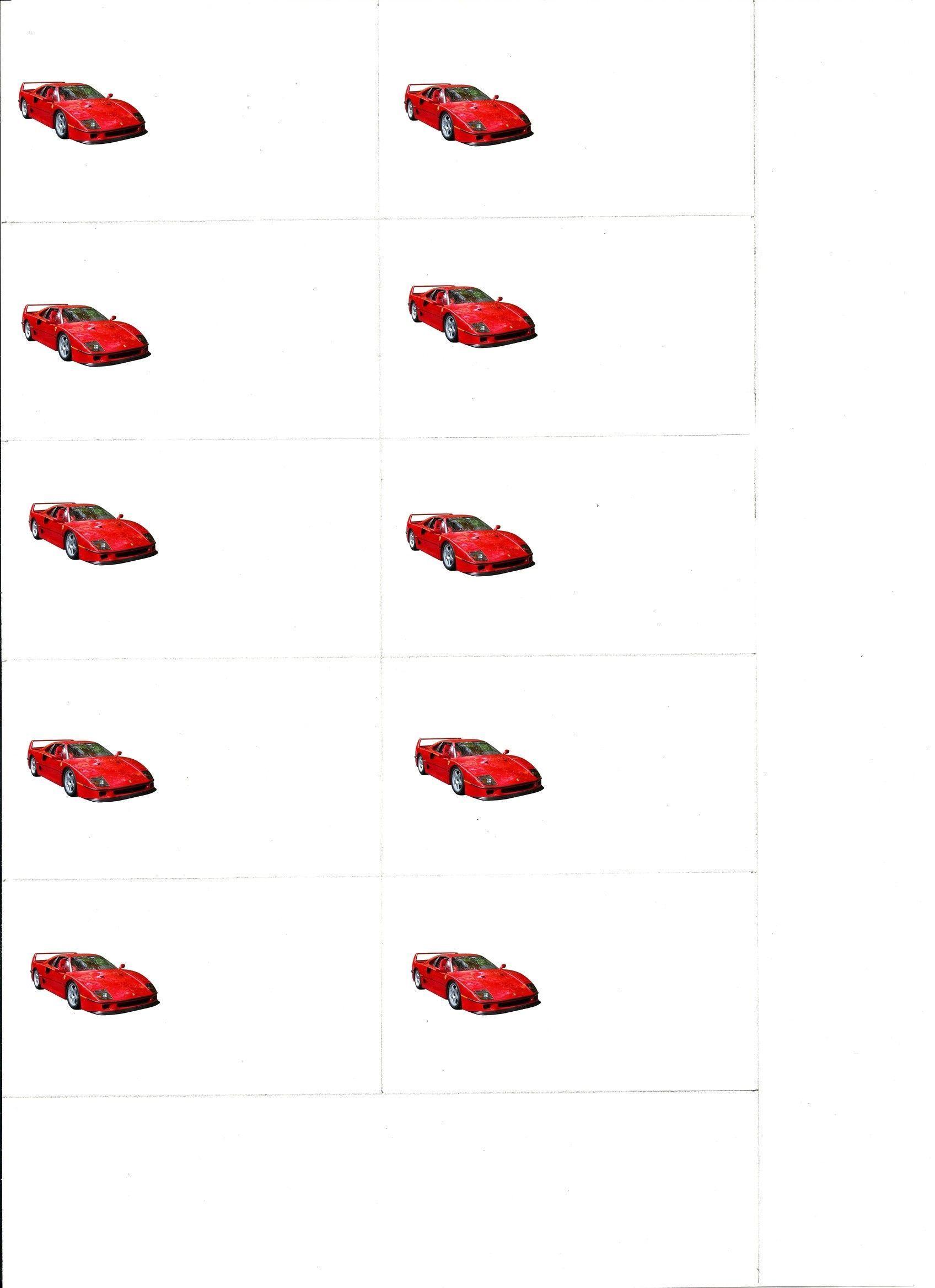 Ferrari Si Des Cartes De Visite
